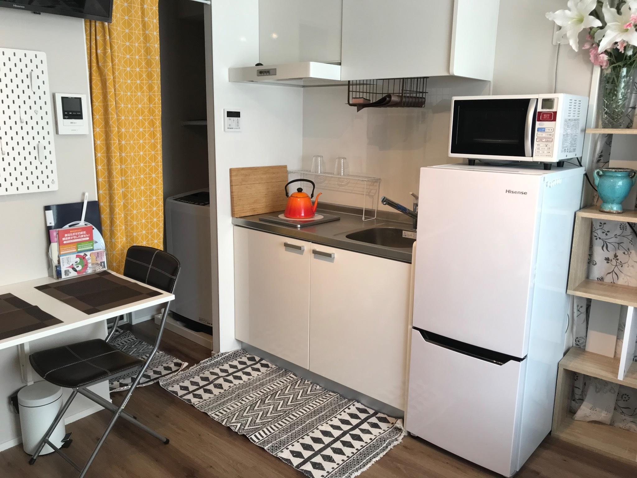 キッチン、冷蔵庫