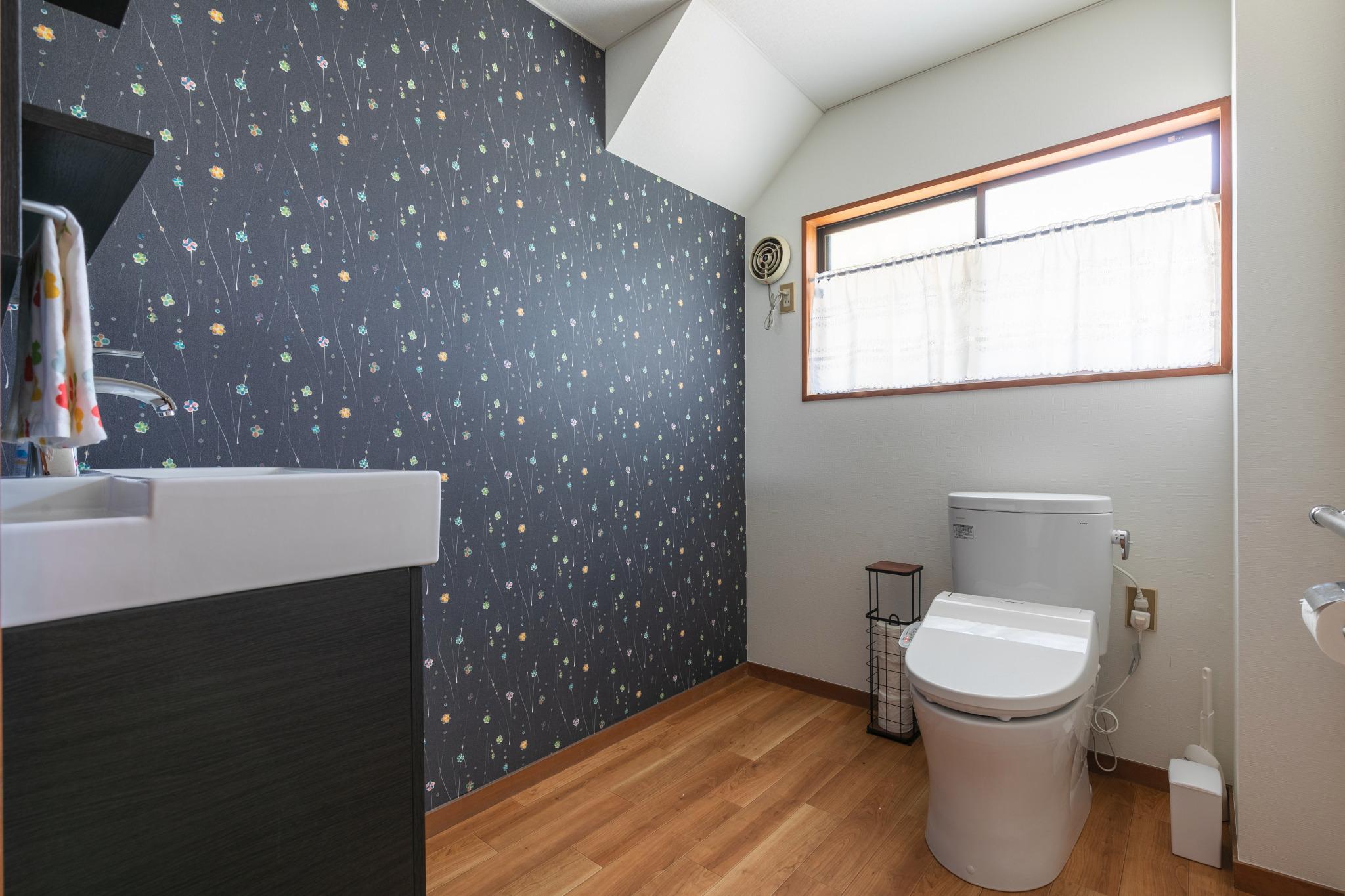 A toilet on each floor.