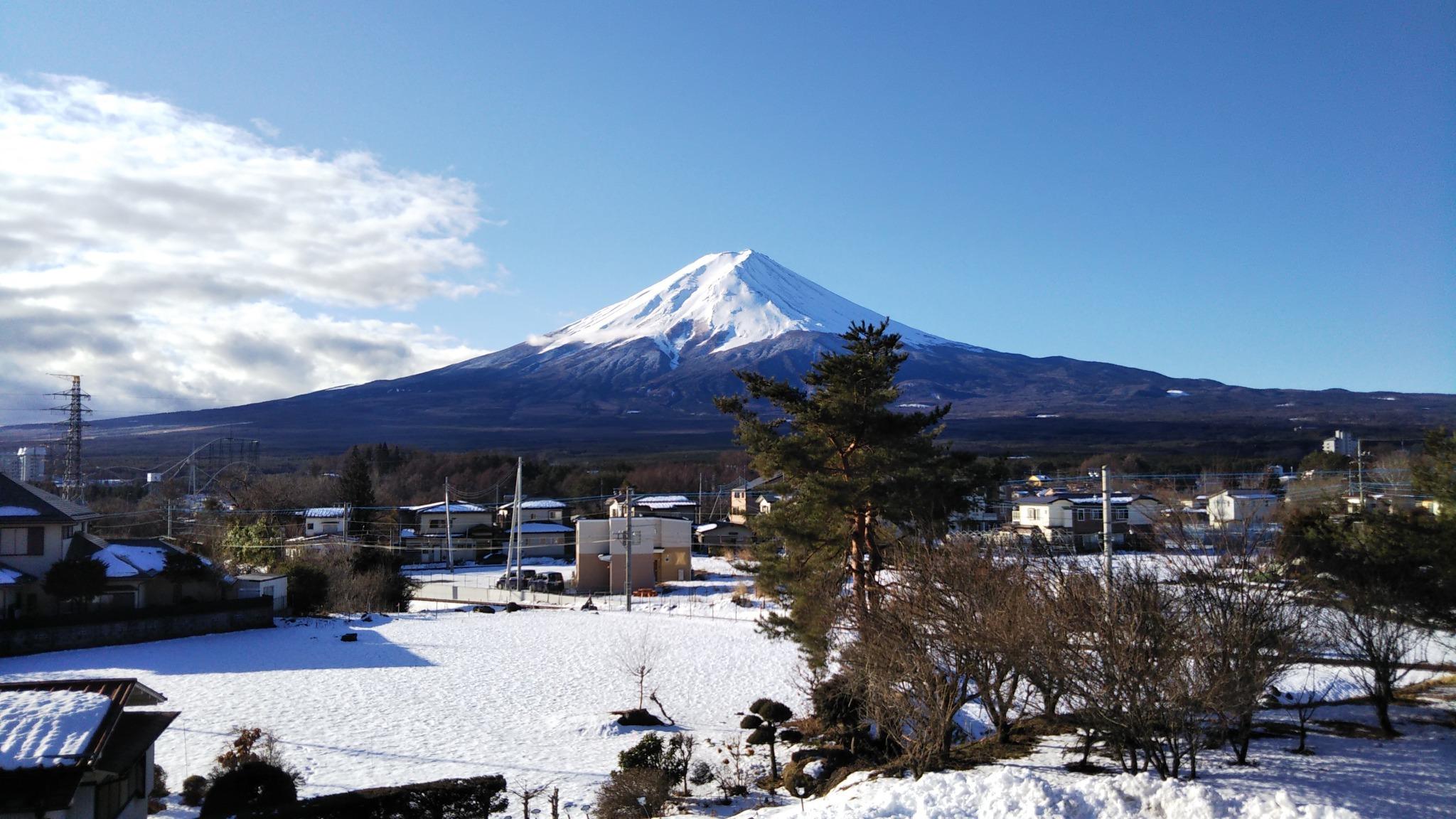 晴れた日には富士山が良く見えます!