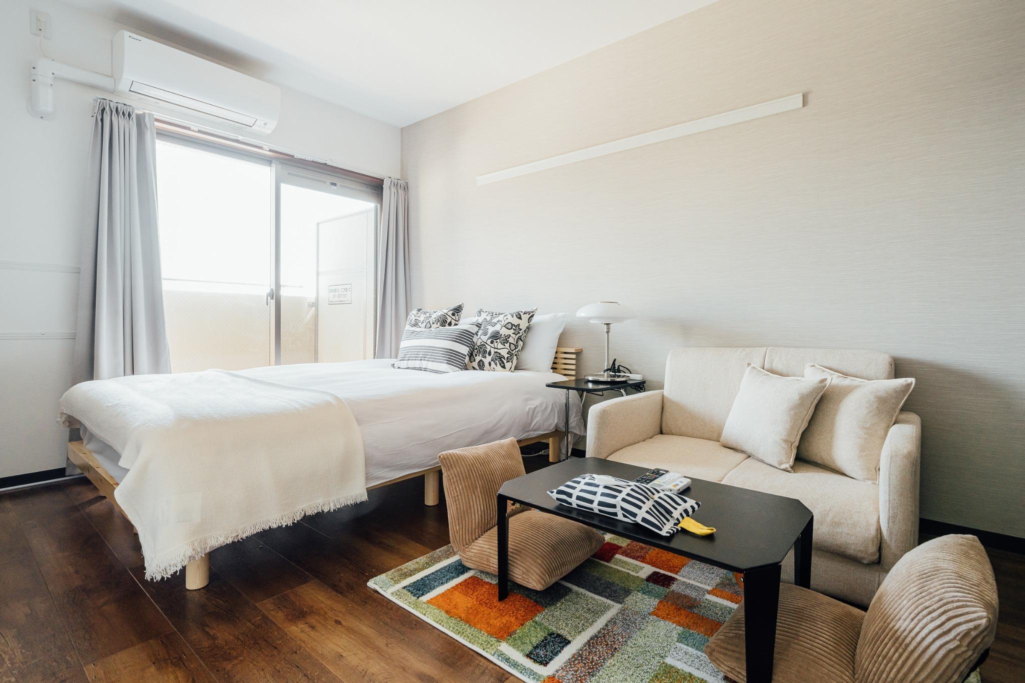大阪城ビュー ダブルベッドルーム