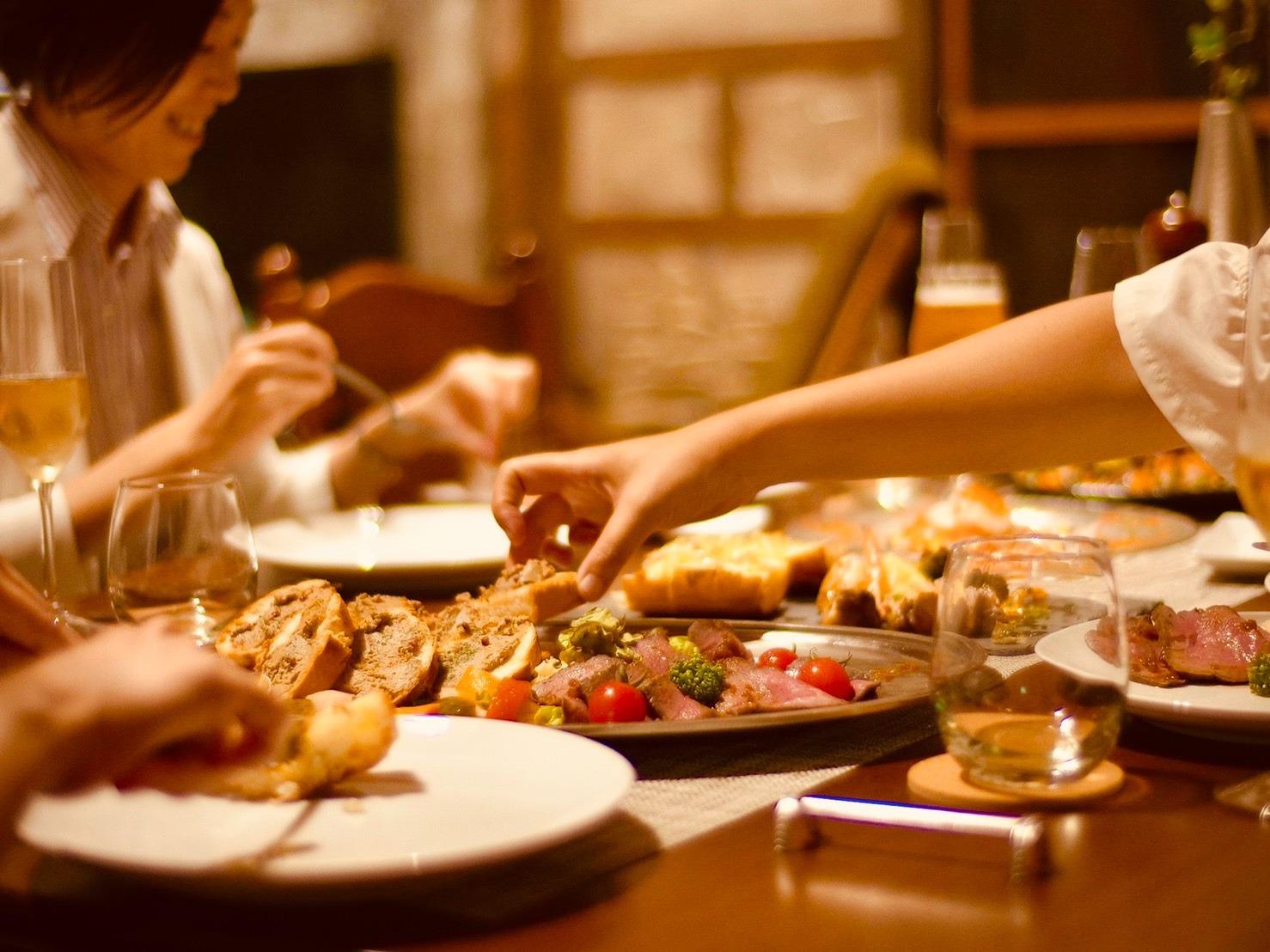 皆で食卓を囲む幸せ。