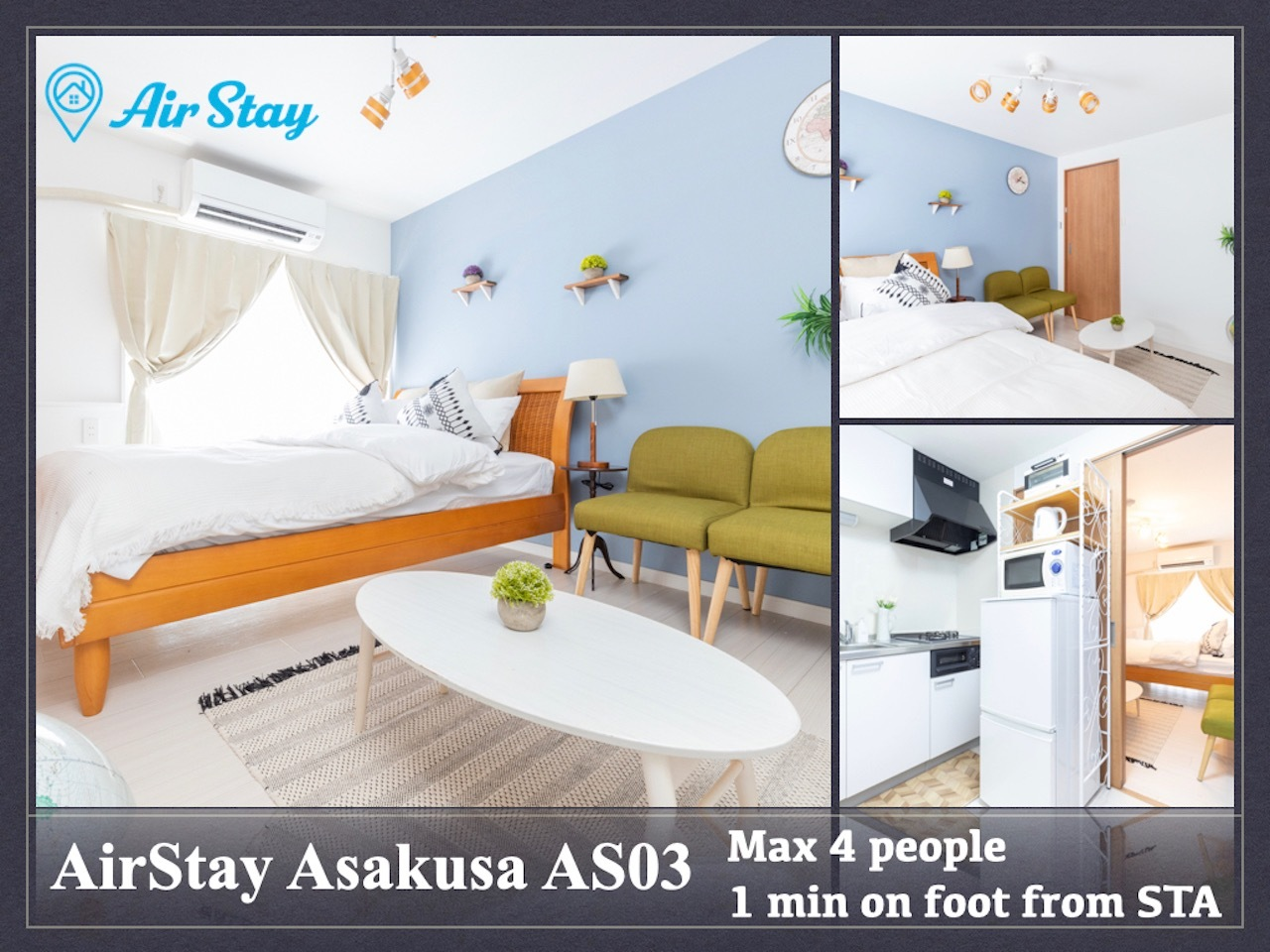 AirStay Asakusa AS03 /帰国滞在歓迎/早割長期割/空港ピックアップ/高速WiFi