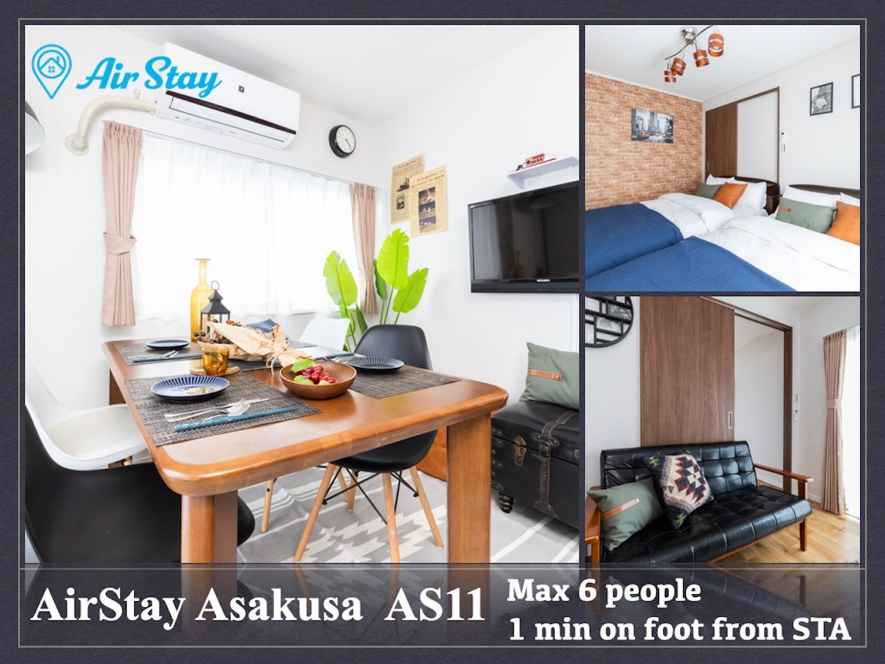 AirStay浅草AS11 /帰国滞在歓迎/早割長期割/空港ピックアップ/高速WiFi