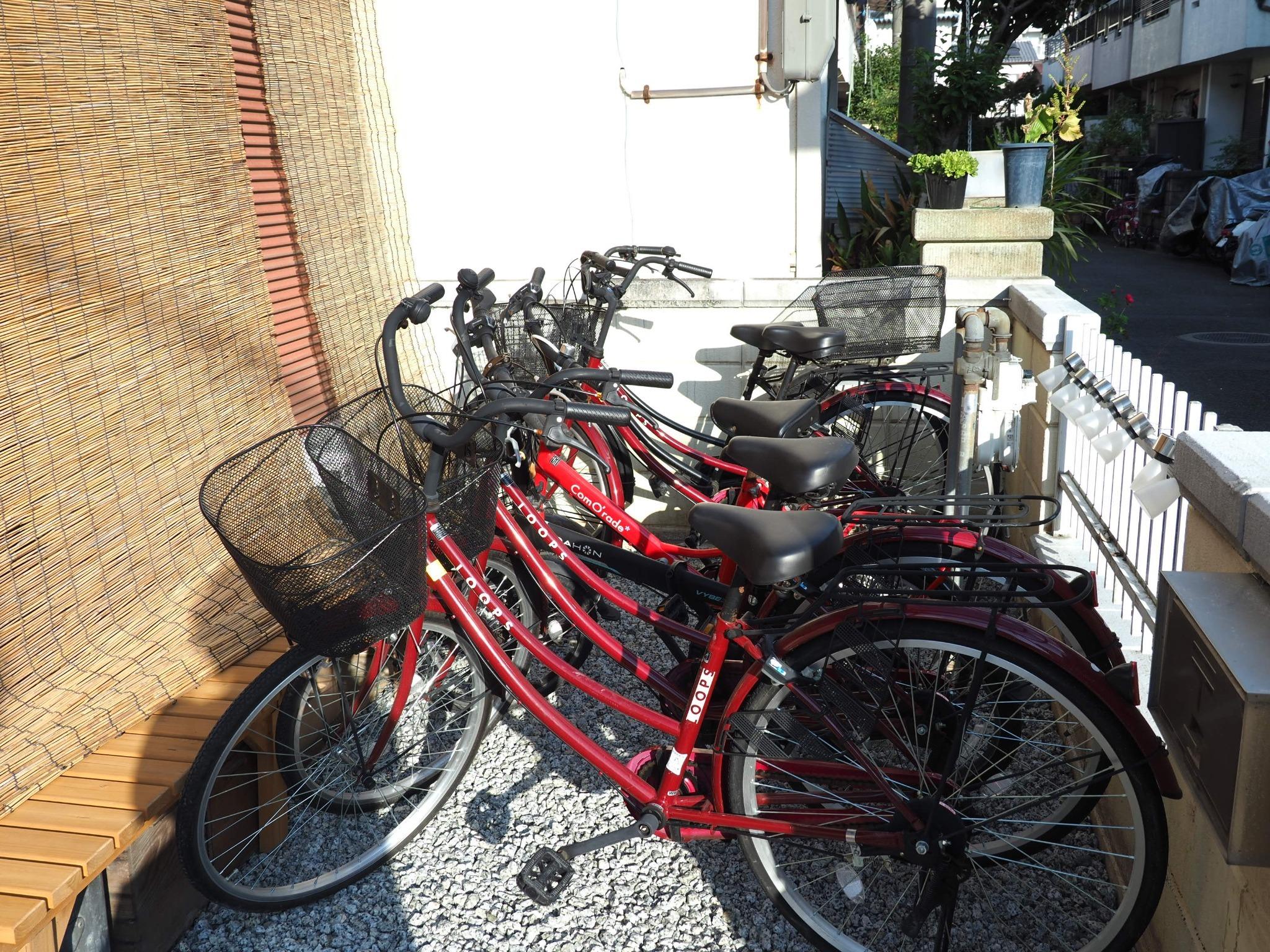 敷地内FreeSize駐車場と自転車4台、MANGA1500冊蔵書の一棟貸し。関西観光の拠点に!