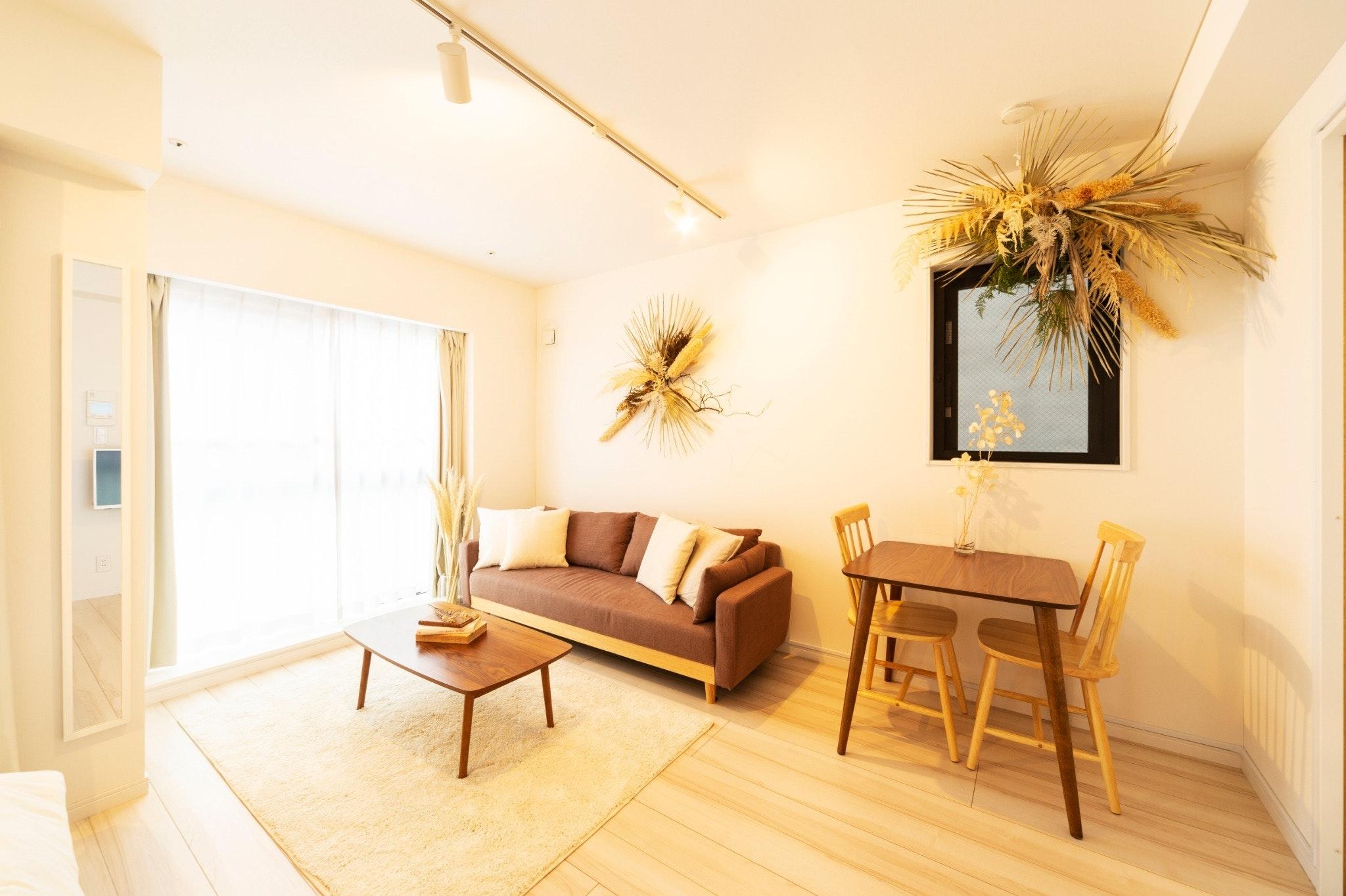 GH201*東中野駅、落合駅徒歩4分、キッチン、洗濯機付きの30平米1Kの住居型ホテル