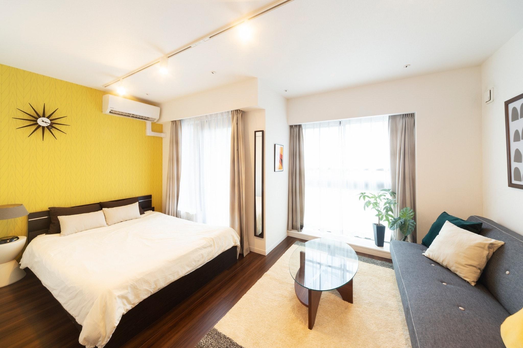 GH301*東中野駅、落合駅徒歩4分、キッチン、洗濯機付きの30平米1Kの住居型ホテル