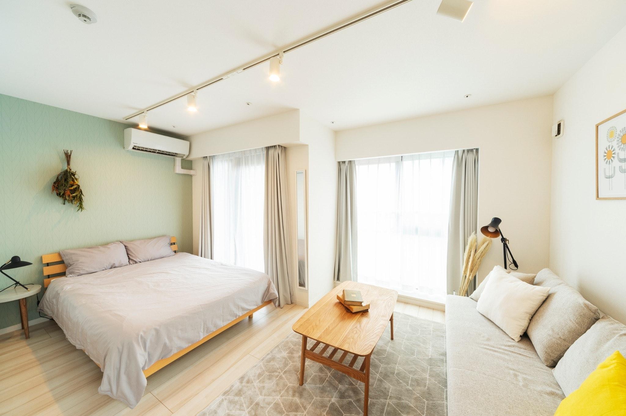 GH401*東中野駅、落合駅徒歩4分、キッチン、洗濯機付きの30平米1Kの住居型ホテル