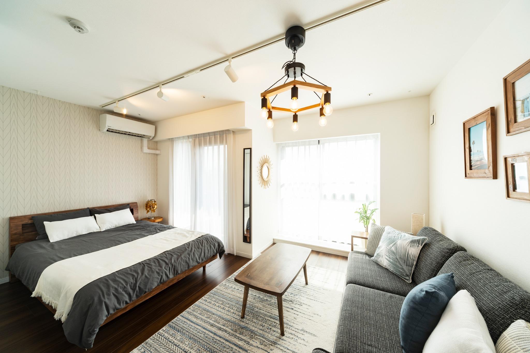 GH501*東中野駅、落合駅徒歩4分、キッチン、洗濯機付きの30平米1Kの住居型ホテル