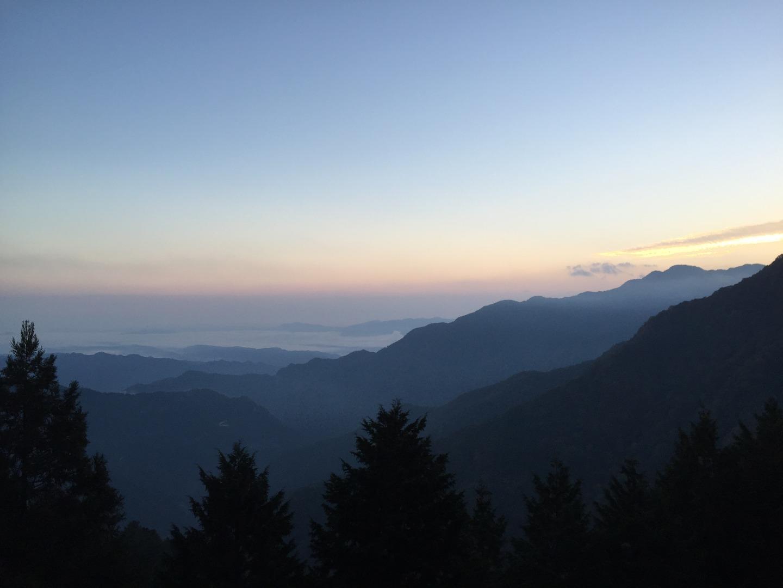 三峯神社での雲海鑑賞