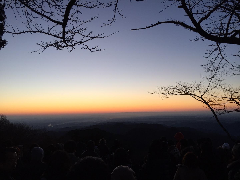 関八州見晴台での日の出