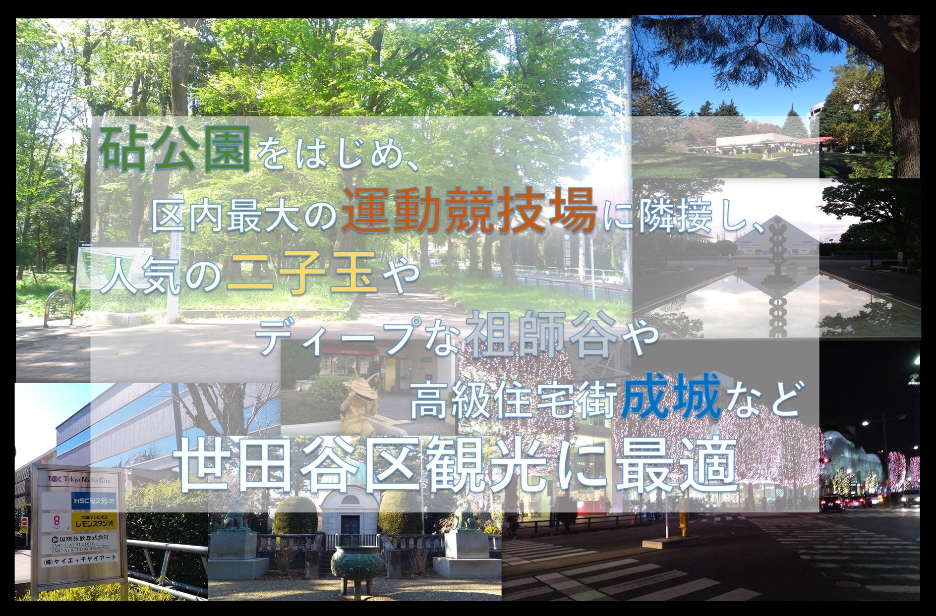 砧公園・成育医療センター・大蔵総合運動場至近。家主同居型の安心・斬新民泊施設