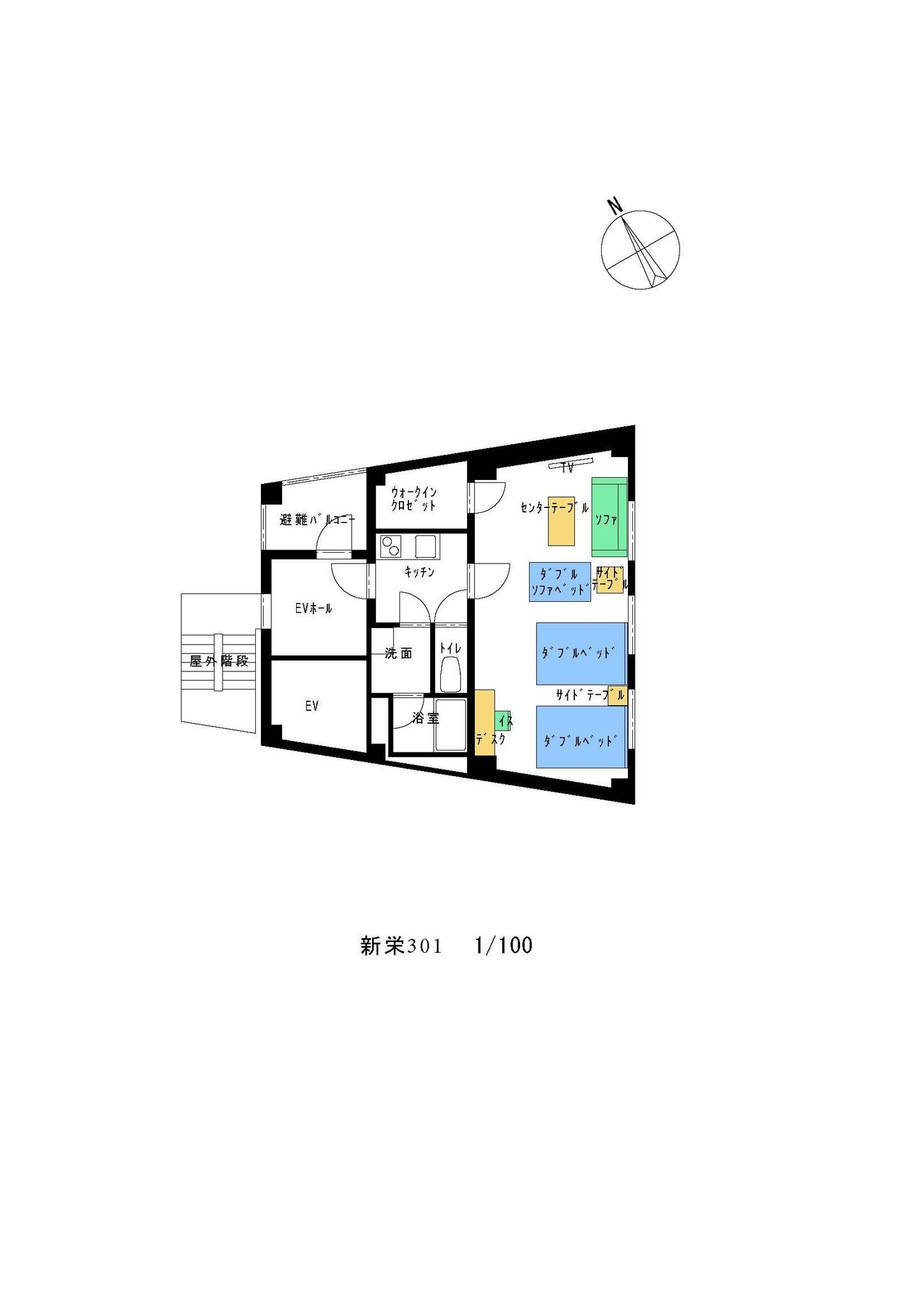 [301]心安らぐ和風モダンなお部屋。ワンフロア1ルームの完全プライベートスイートルームで安心
