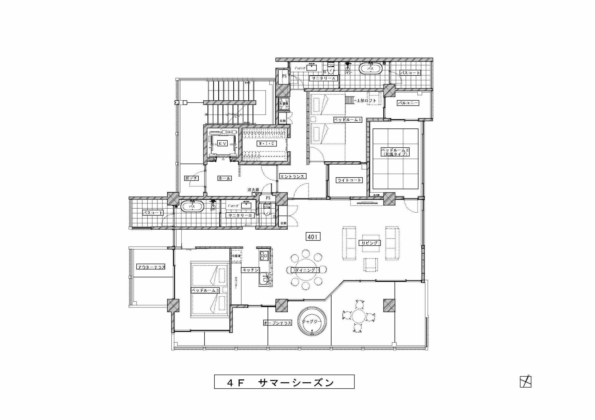 秘密の隠れ家!琉球畳やロフト付き!高台で優雅にジャグジー!4F夏のお部屋