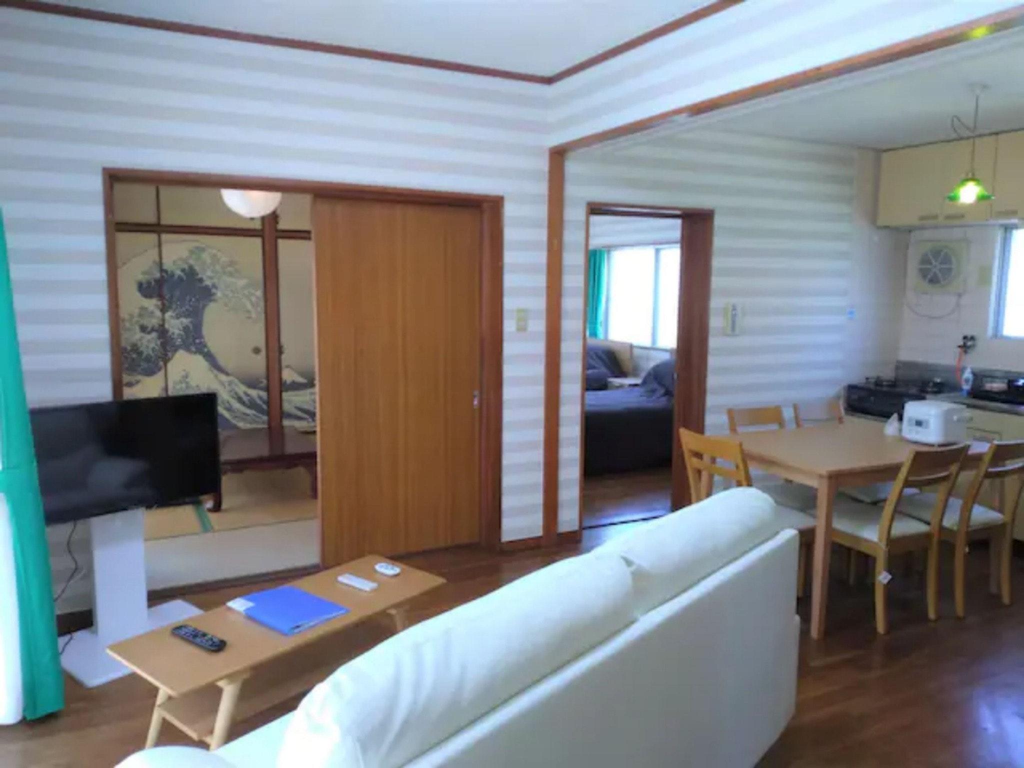 New 52m2和洋室LDK★3泊割引☆無料清掃料&駐車1台