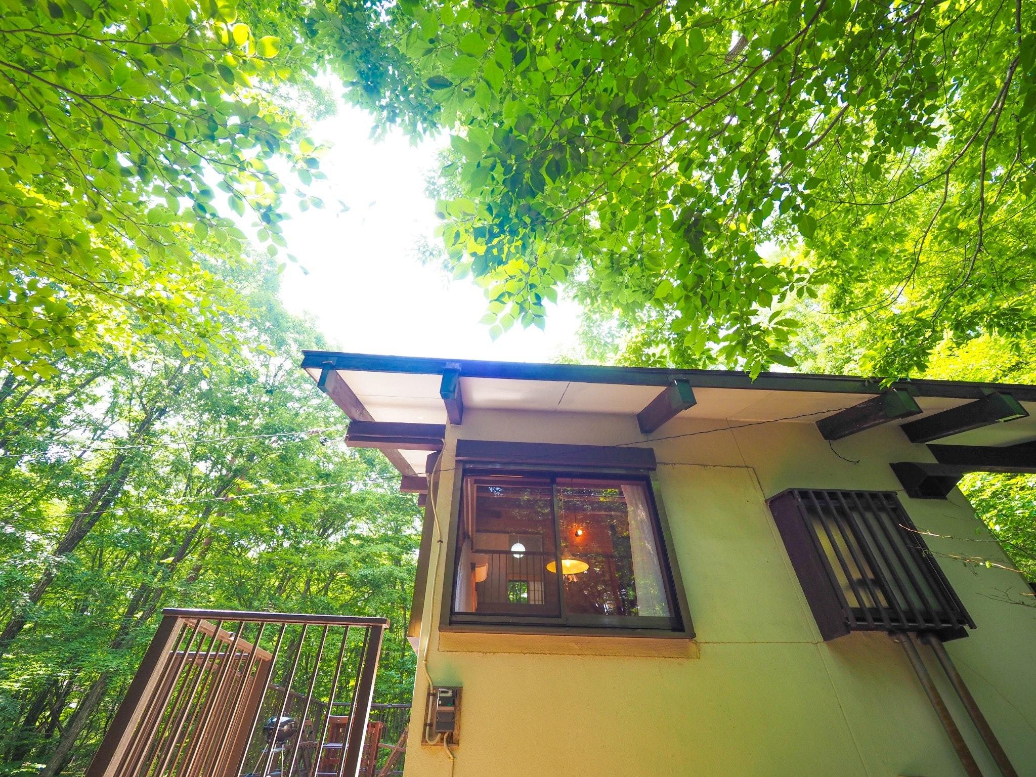 Kamiina Life: 緑が目に染む森に囲まれたコテージ、家族のだんらん、那須の休日