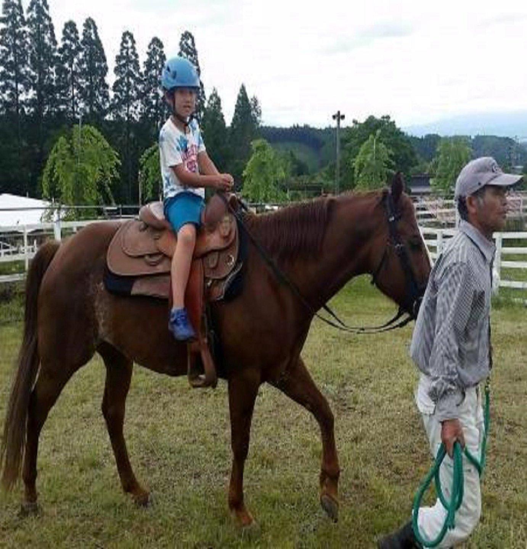 乗馬もできます。