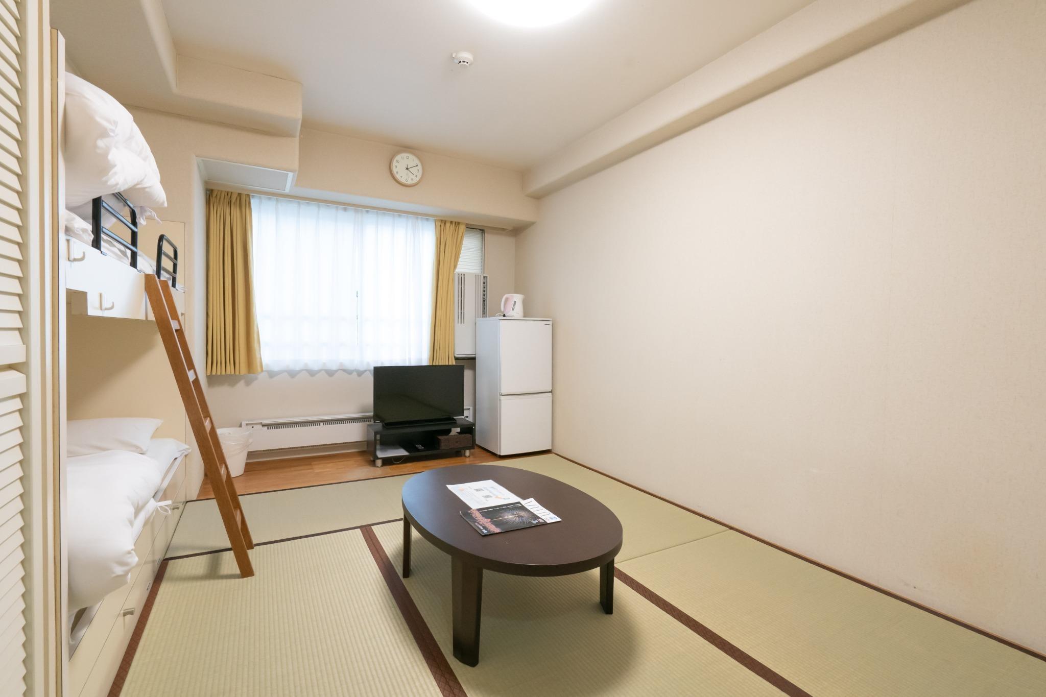 【値下げSALE中】Wi-Fi完備・温泉有・ミニキッチン付・一階コンビニ【610号室・4名】