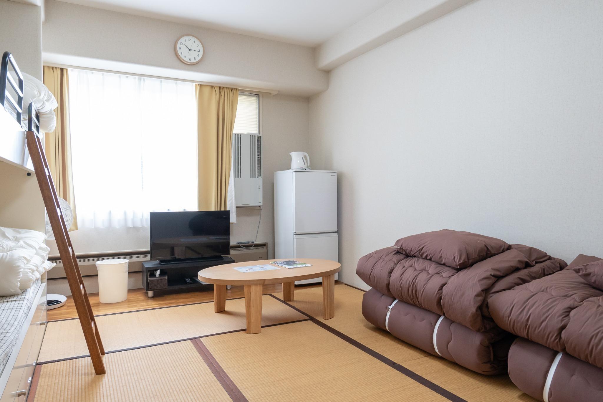【ワーケーション応援】Wi-Fi完備・温泉有・ミニキッチン付・一階コンビニ【702号室・4名】