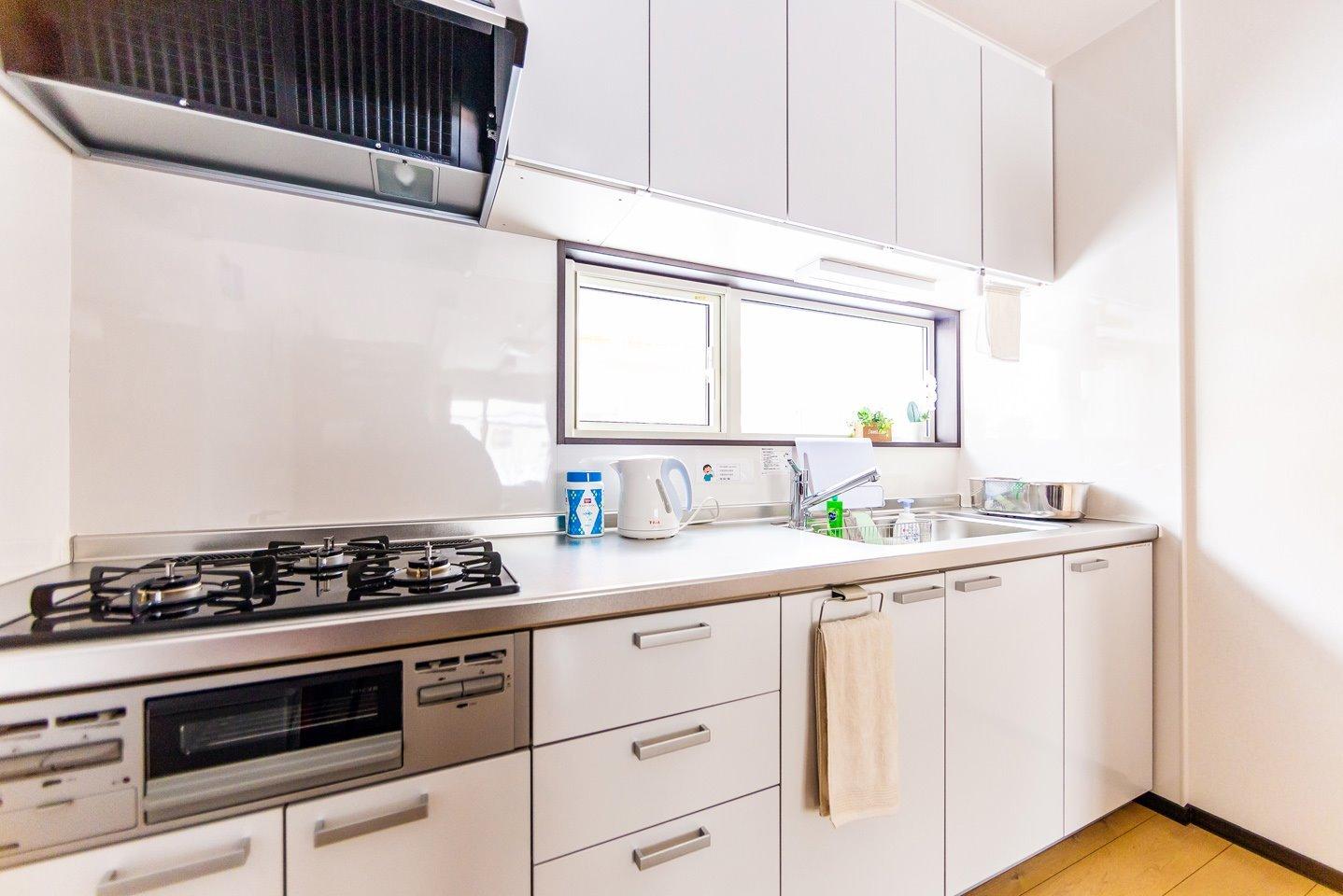 キッチン、食器はいつも清潔