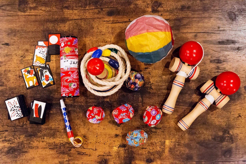 昔ながらの日本のおもちゃを常備