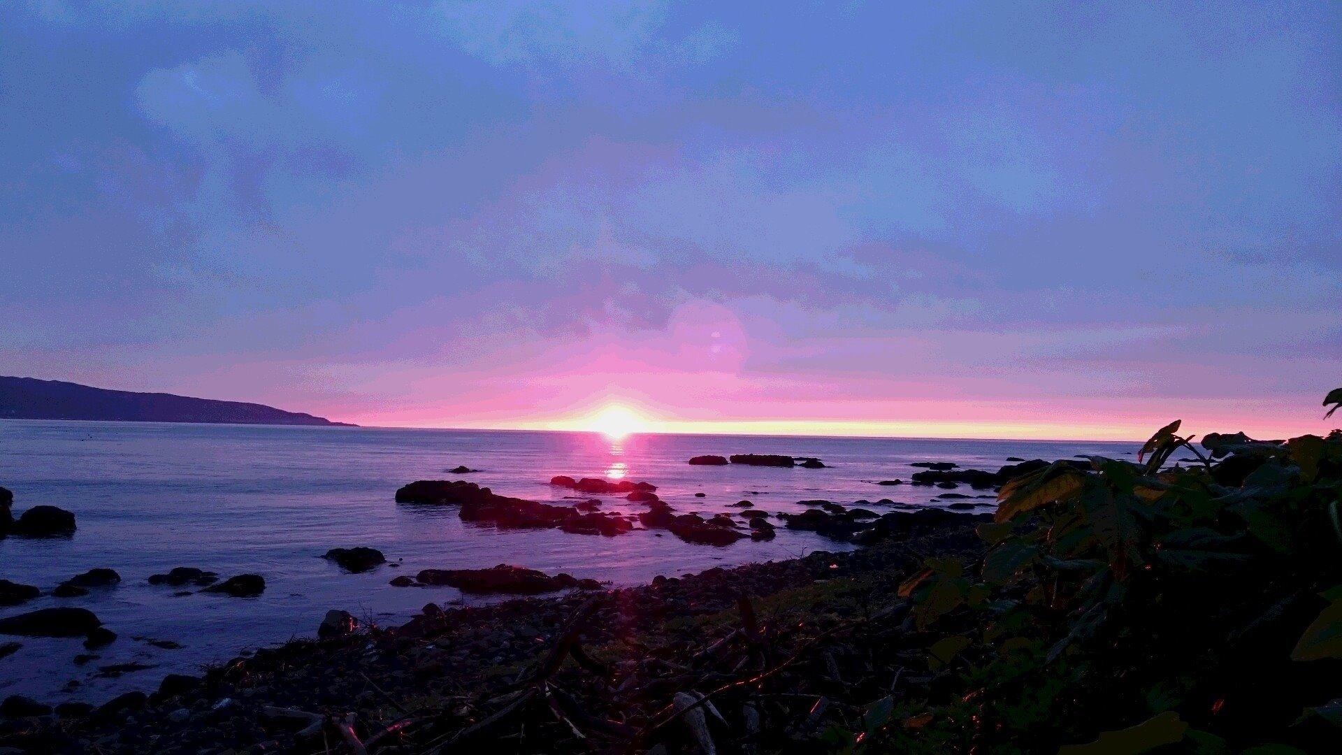 寿都湾の夕陽