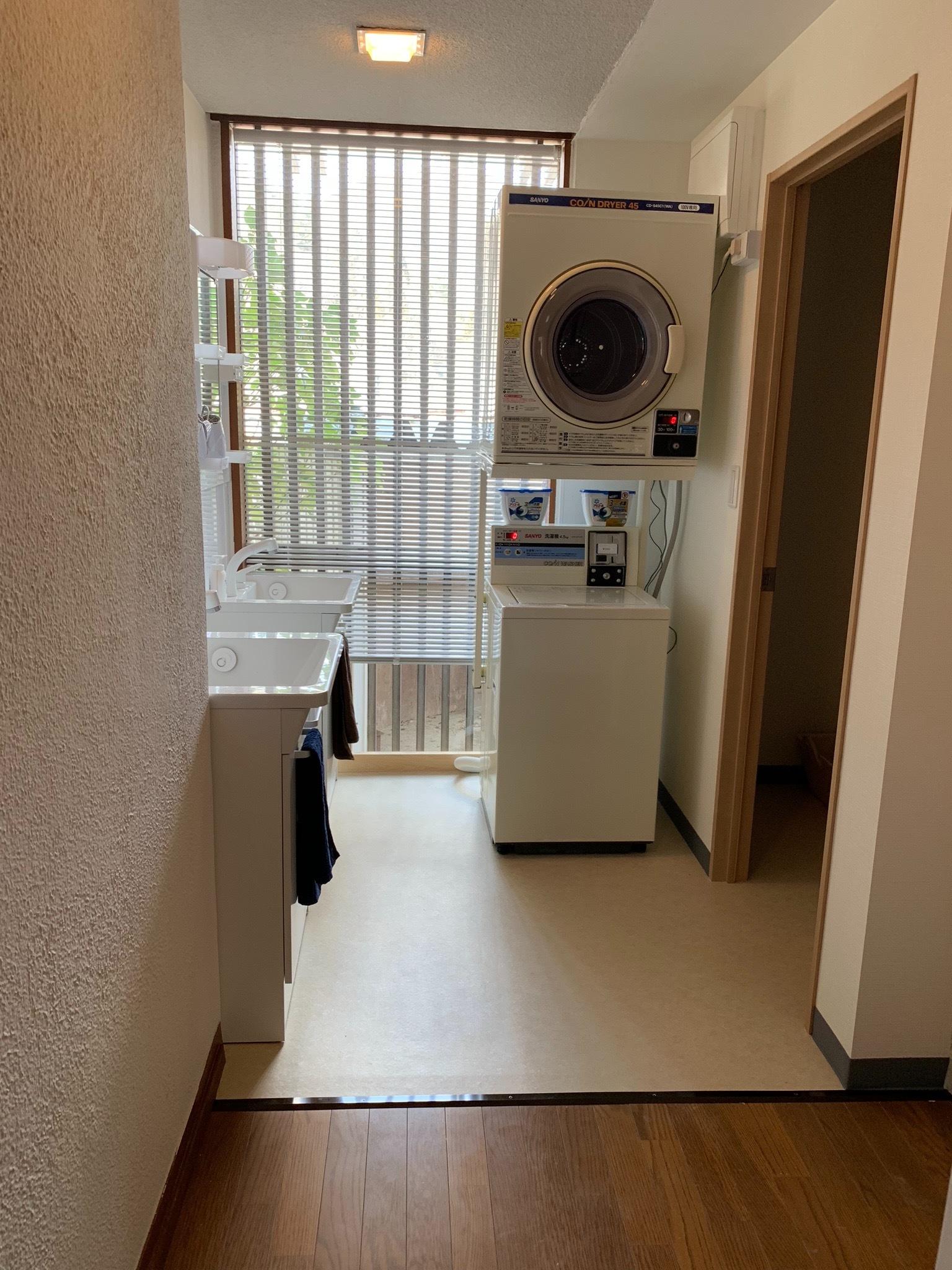 コイン式洗濯機、コイン式乾燥機