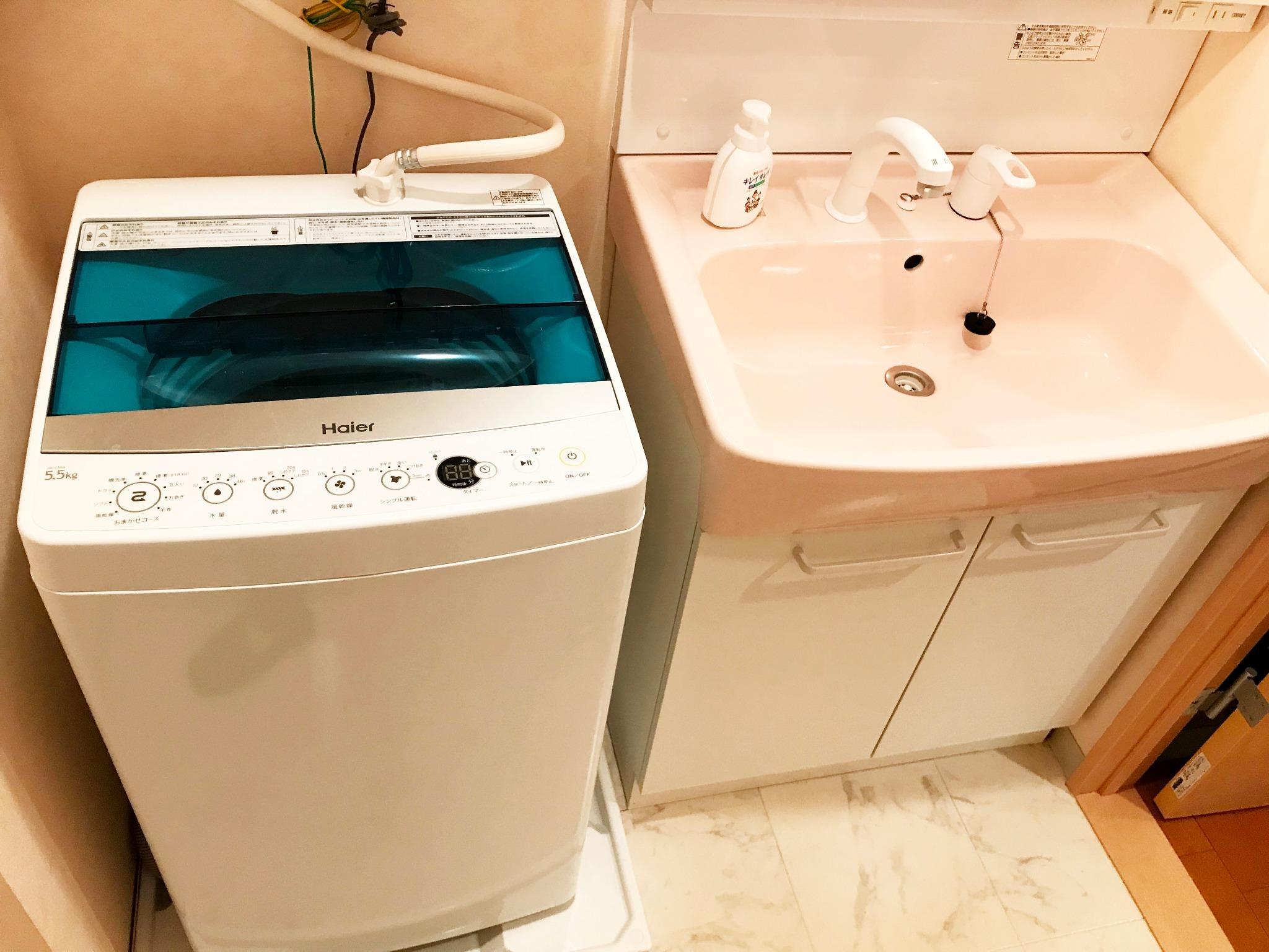 洗濯機 洗面台