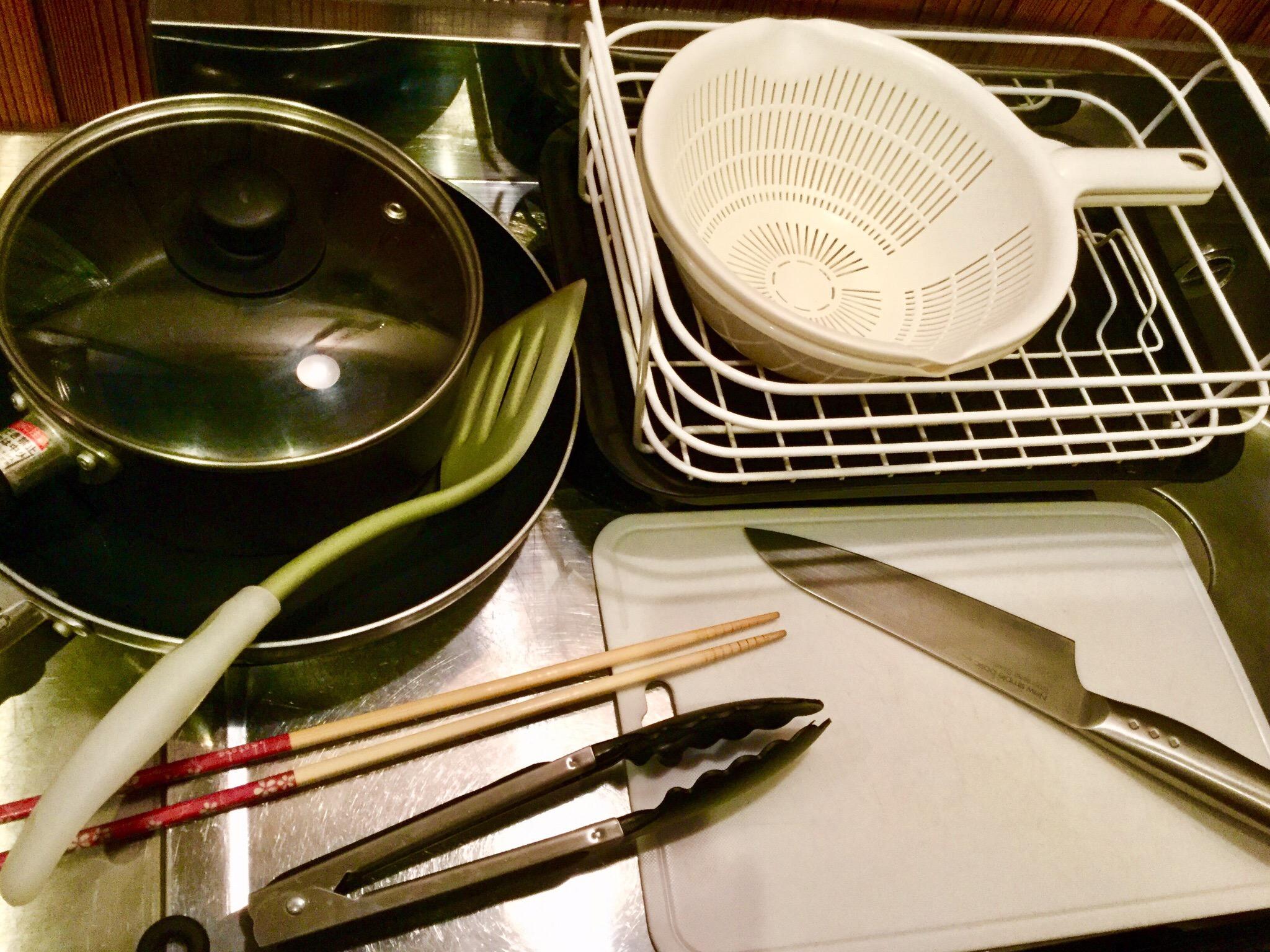 簡単な調理器具を設置