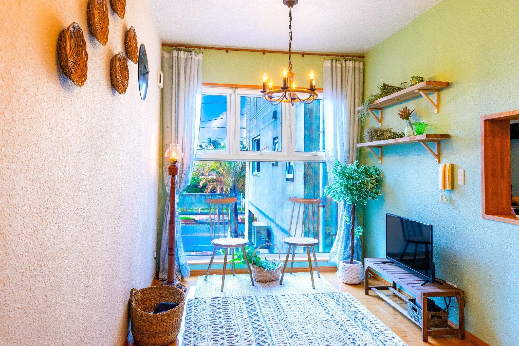 沖縄北部をたっぷり満喫!ビーチ徒歩圏内・美ら海水族館まで車で10分!屋上でBBQが可能の貸切一軒家!