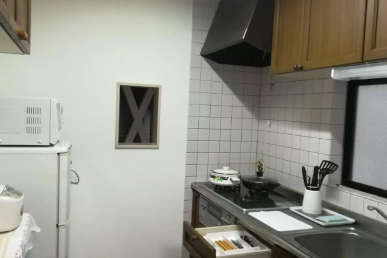 【1F Kitchen room / 1楼厨房 / 1Fキッチンルーム】