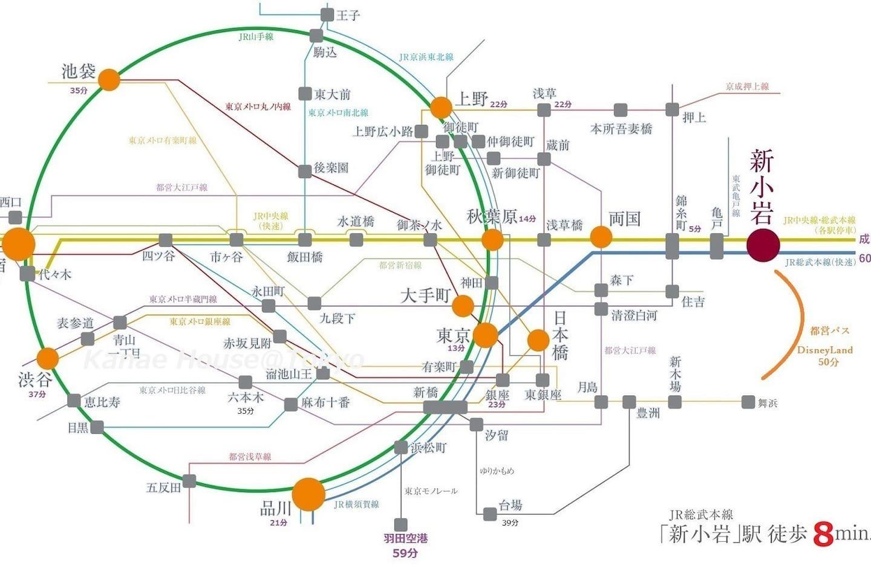 【京市内国JR和私路 / 東京都JR&私鉄の主要駅路線図】