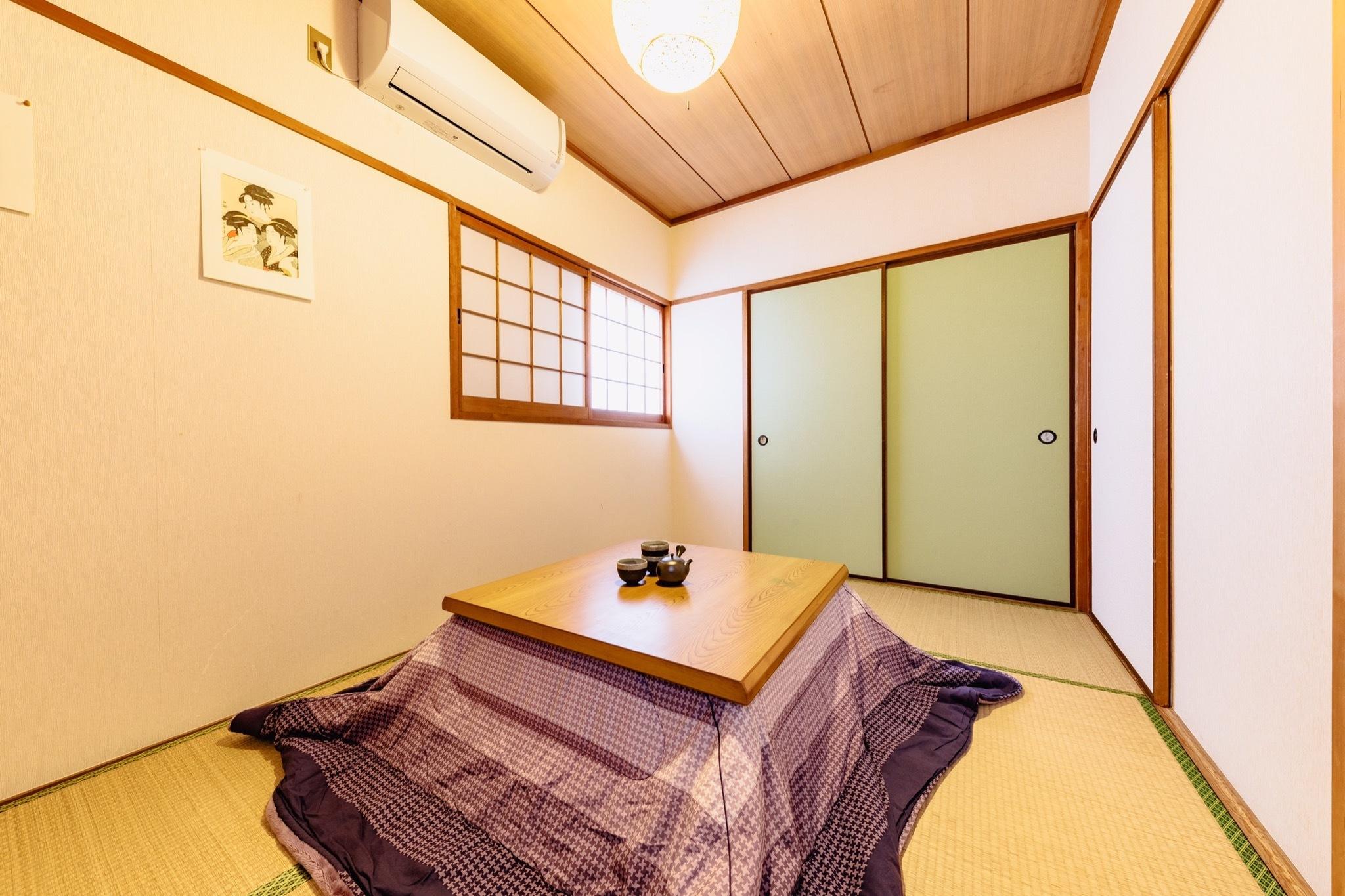 綺麗な和室で日本式を経験できます
