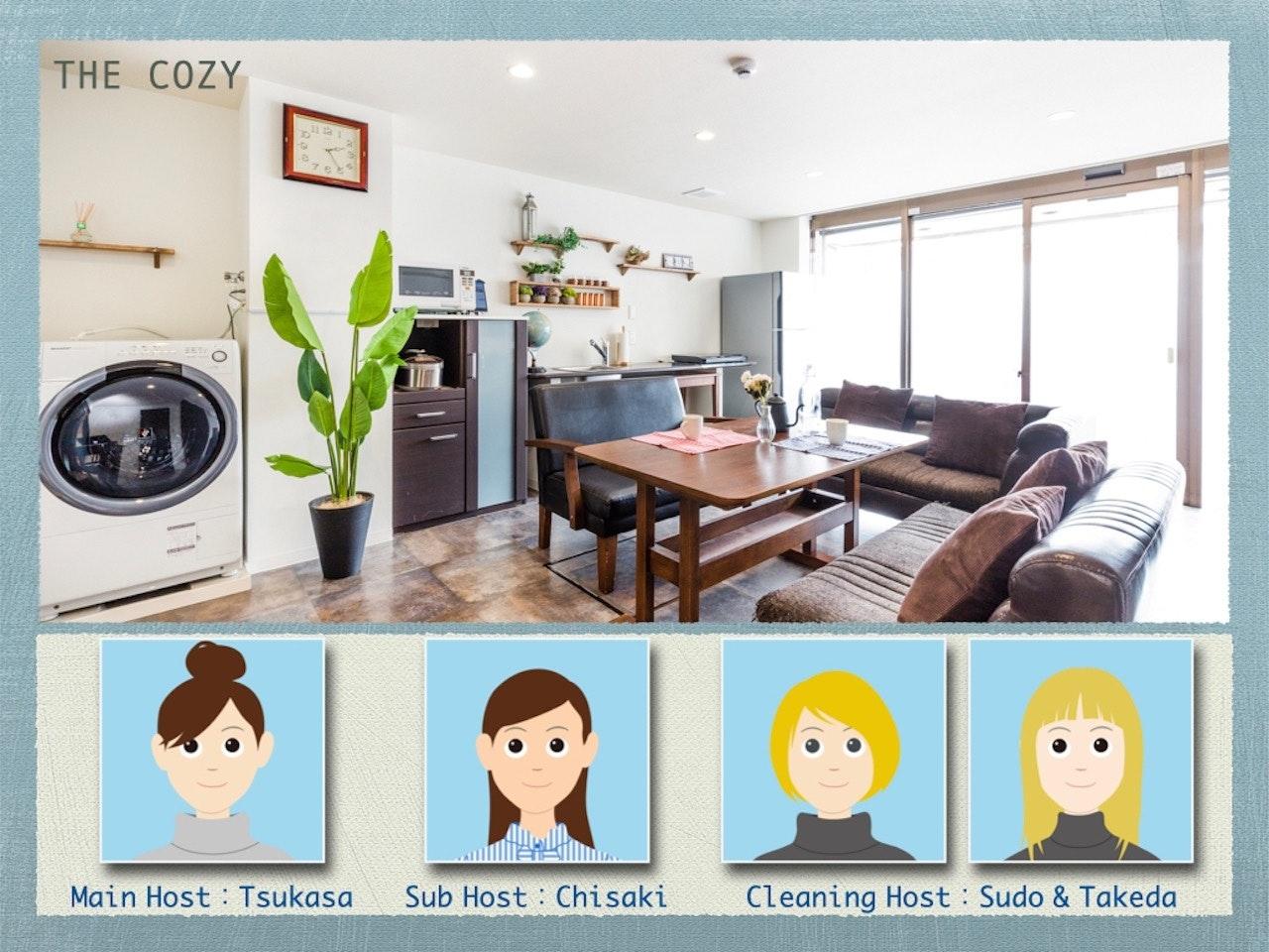 【ご帰国後の自主隔離歓迎】The Cozy/最大24人/5寝室/高速WiFi/無料自転車/