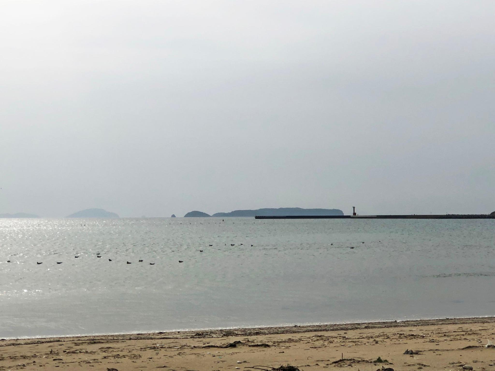 徒歩圏内にある津屋崎海岸です