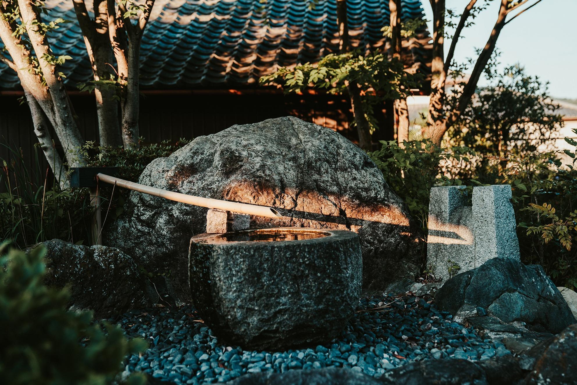 ゲストハウス庭
