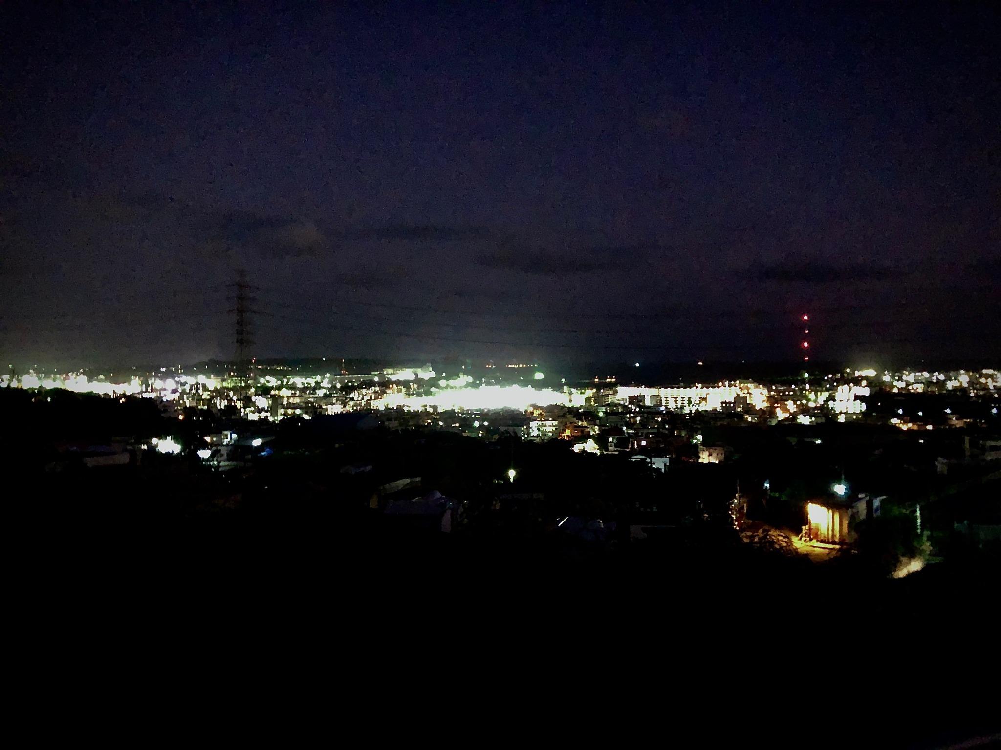 テラスからの夜景