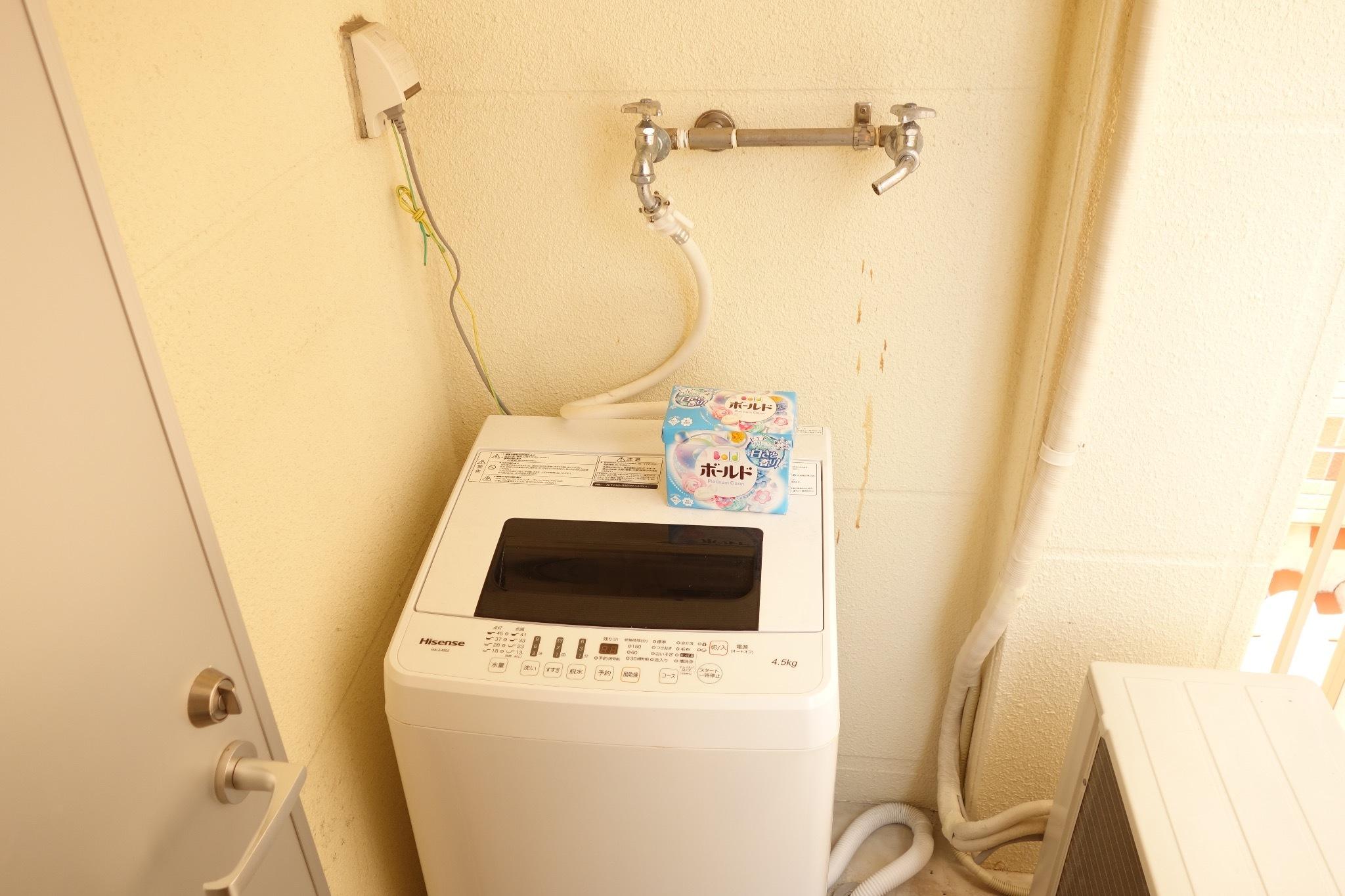 2階:洗濯機もあり、干場もあります!