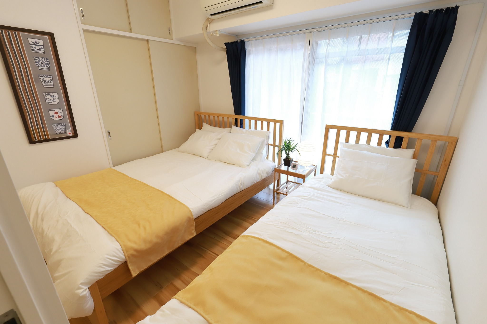 double & single bed room