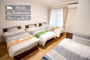 【新築】民泊専用マンション 7階建て3部屋タイプ施設全景