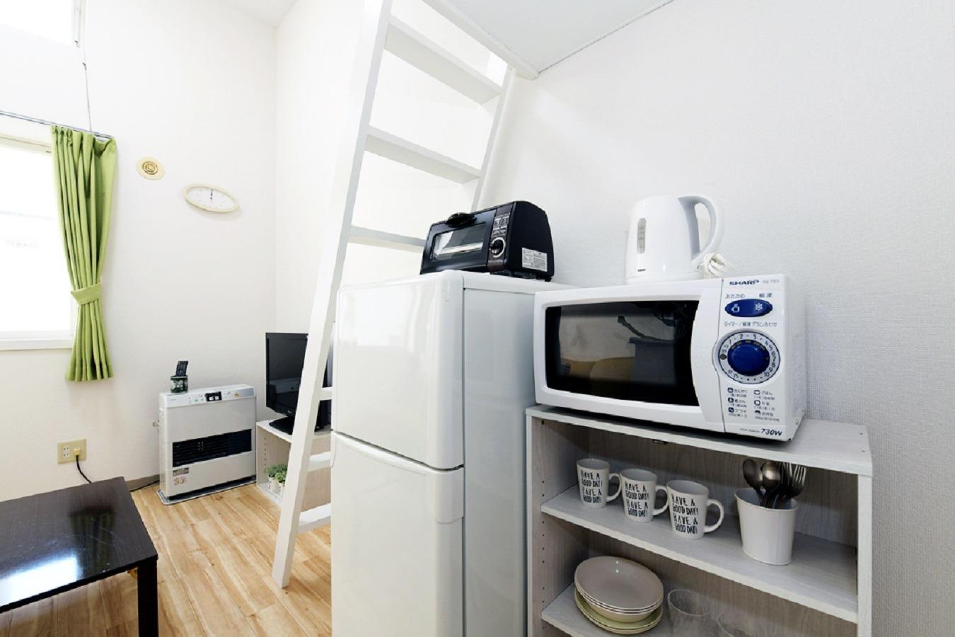 電子レンジ・トースター・冷蔵庫完備☆