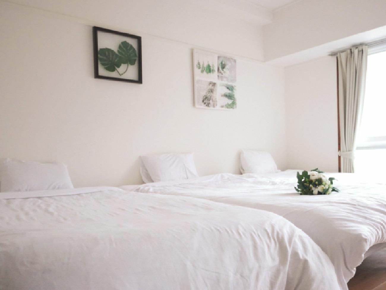 Linen is hotel use! ホテルで使用されているリネンと同じものを使用しています。
