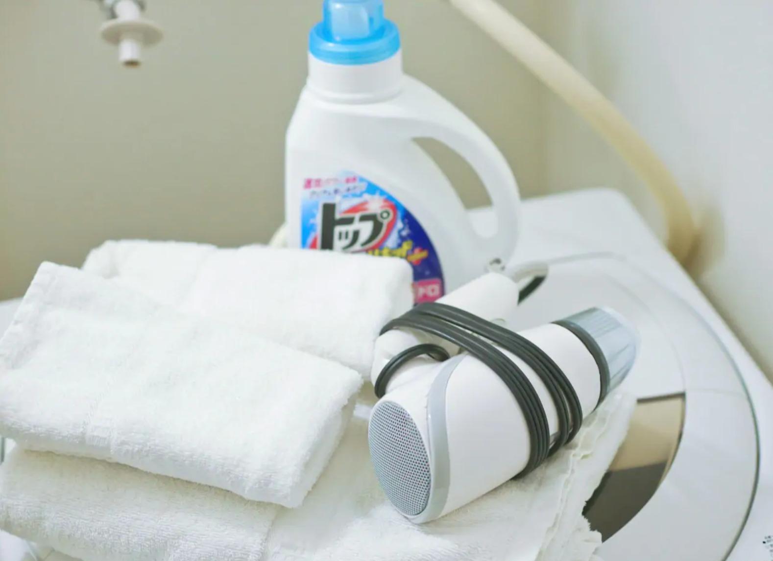 Detergent is prepared. 洗剤の準備もしています!