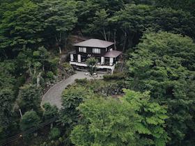 天然温泉かけ流しと大涌谷絶景別荘「星空の丘」施設全景