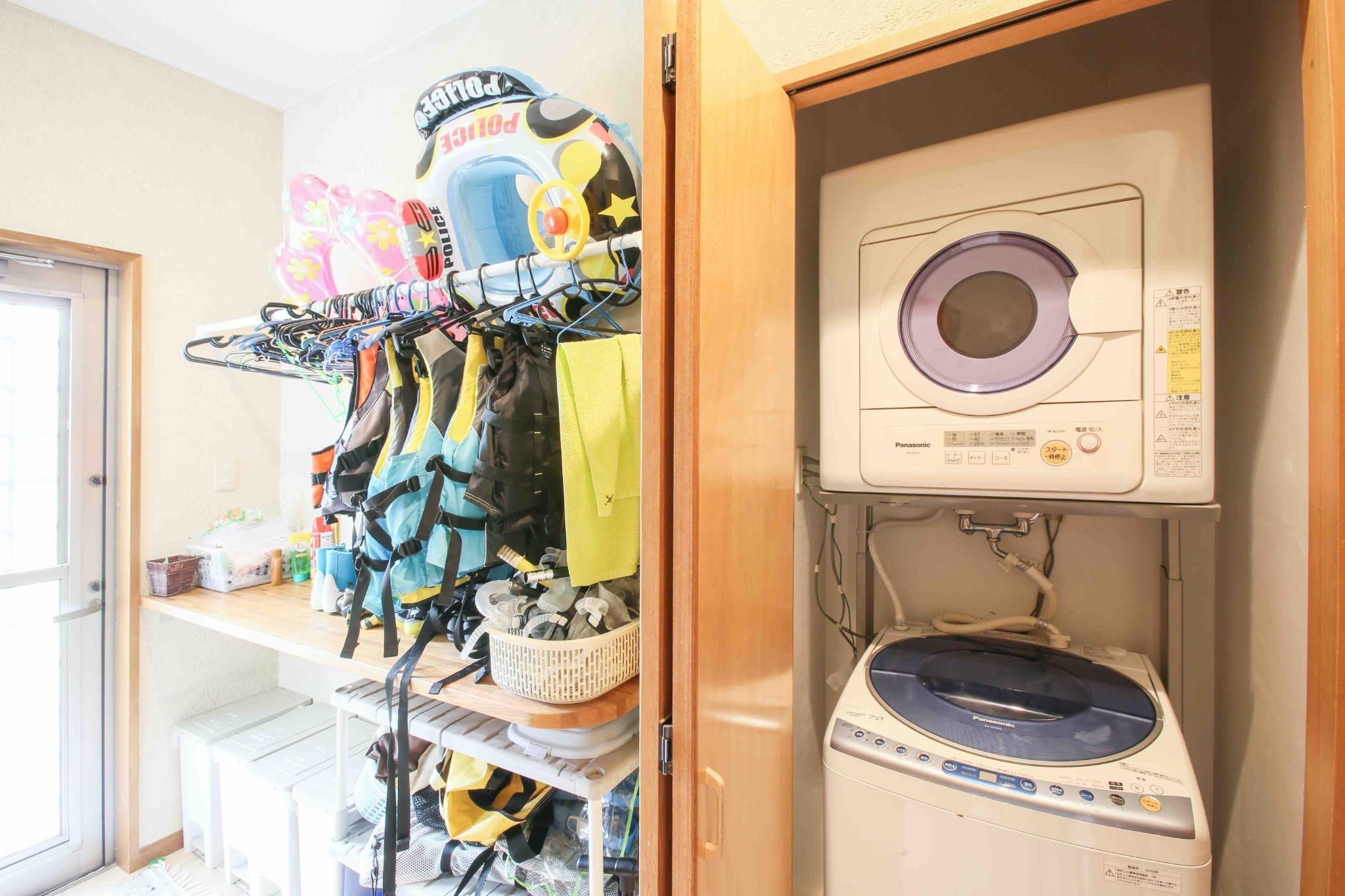 1階 乾燥機、マリン道具付き